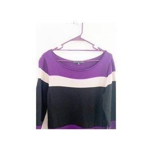 Jones Wear Dresses - Jones Wear Colorblock Striped Sweater Dress Small